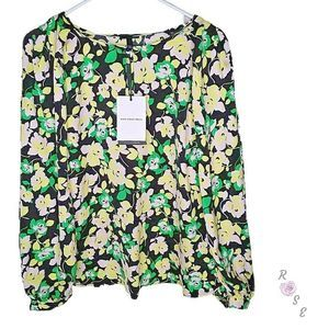 Who What Wear Floral Long Sleeve Blouse